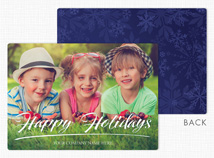 Say it with Style Flat Holiday Photo Cards
